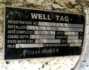 Well Tag on a Drilled Well